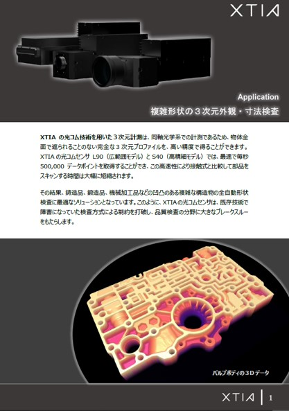 Dimensional inspection of complex shapes with Optocomb 3D scanners by XTIA