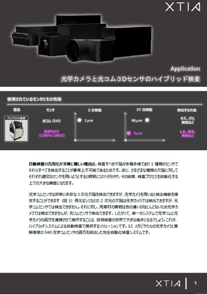 Hybrid inspection by XTIA