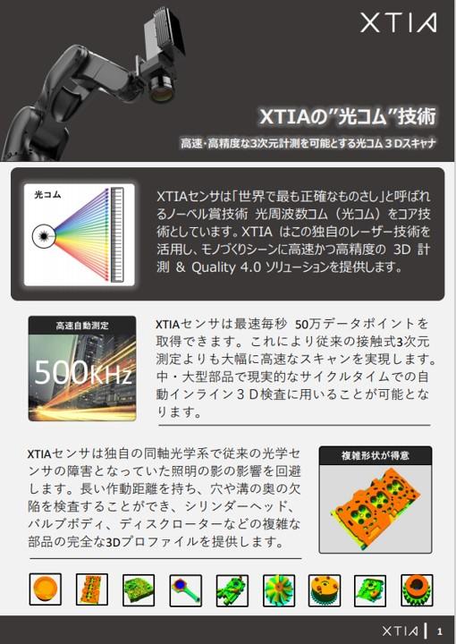 XTIAの光コム技術
