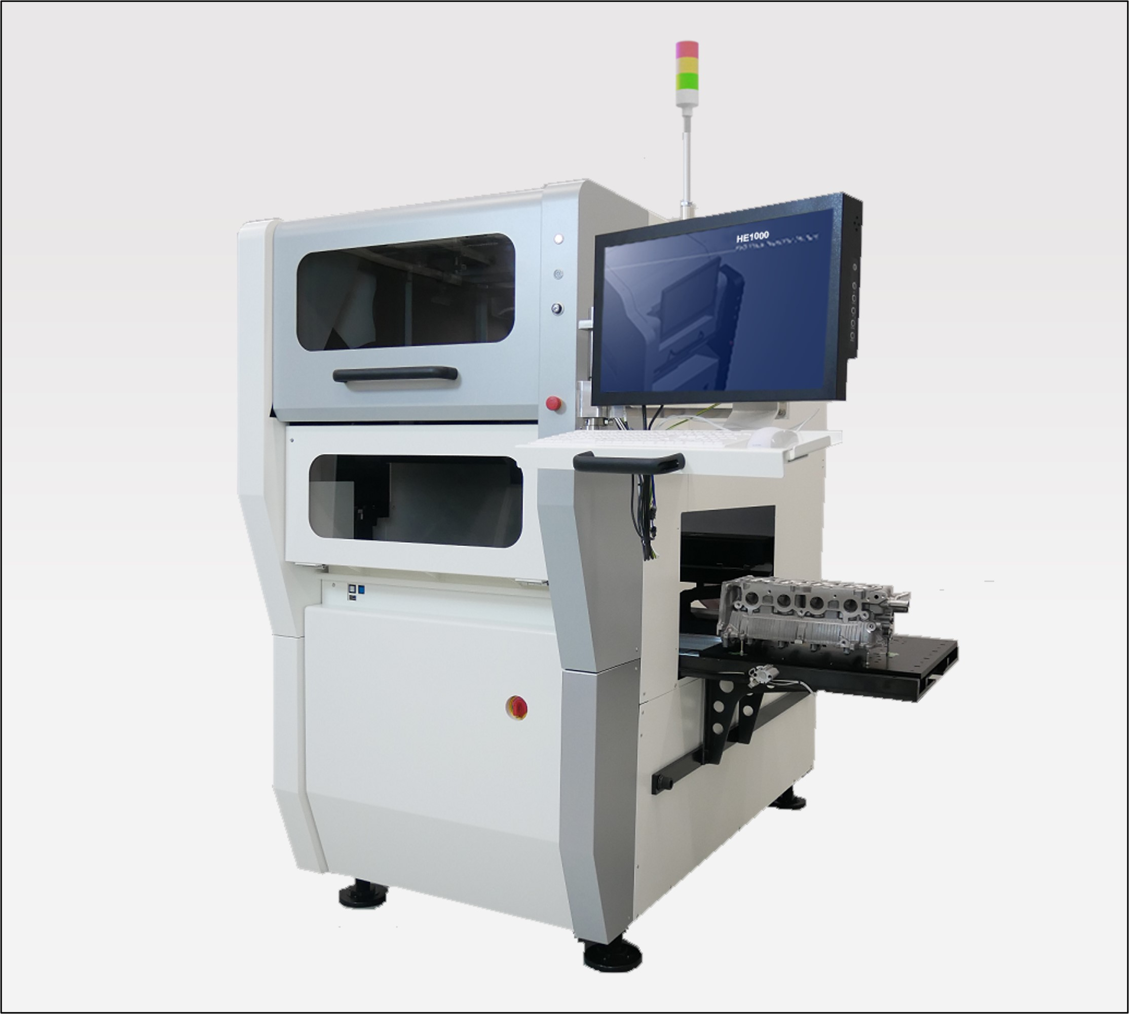 Hybrid system with Optocomb 3D scanner by XTIA